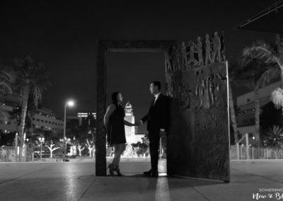 Downtown Los Angeles Night Engagement Session | Sabrina + Scott