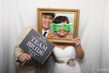 The Villa Orange Wedding Photo Booth | Mark + Maggie