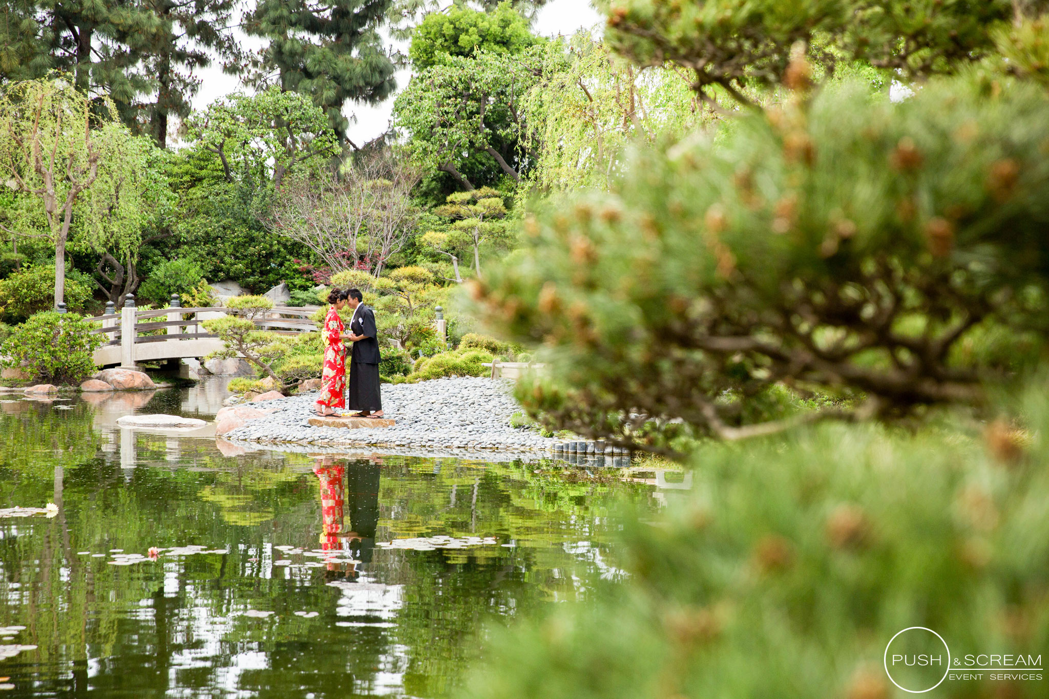 Burns Miller Japanese Garden Engagement Photography