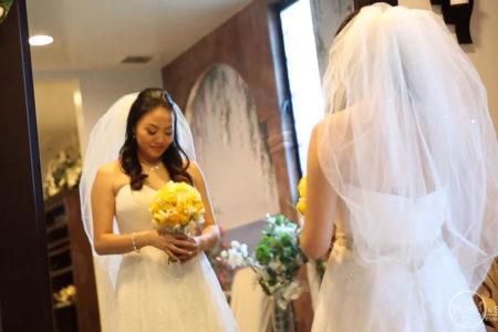 Holy Spirit Catholic Church Wedding Seafood Palace | Ami + Phillip