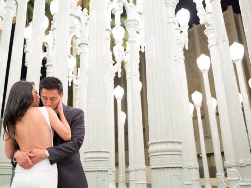Downtown Los Angeles Engagement Photography | Jen + Sus